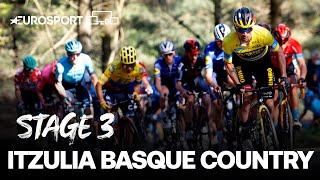 Itzulia Basque Country 2021 - Stage 3 Highlights | Cycling | Eurosport