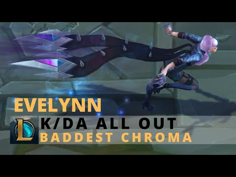 KDA All Out Evelynn BADDEST Chroma - League Of Legends