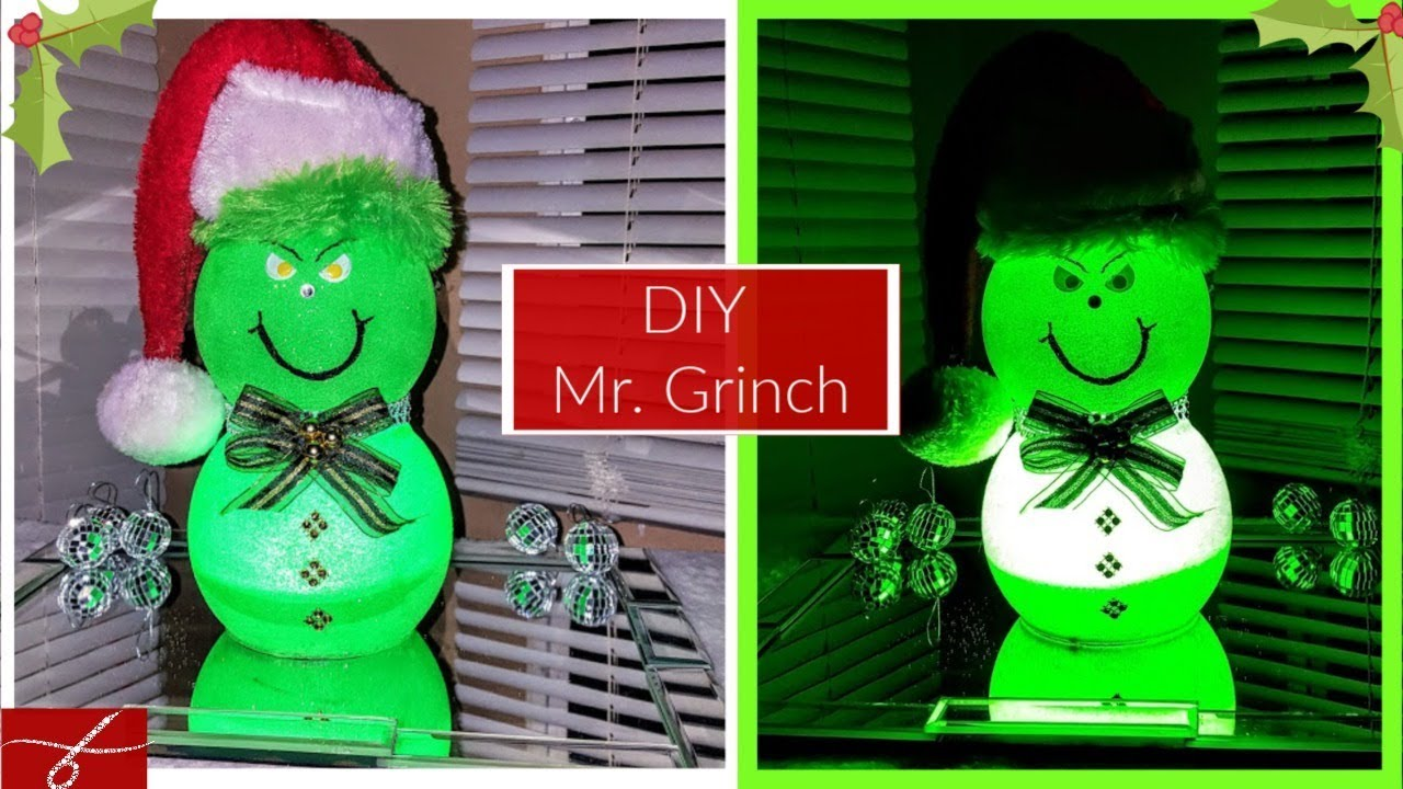 Diy Mr Grinch Small Table Decor Diy Dollar Tree Christmas Decor Ideas Cute Christmas Gifts