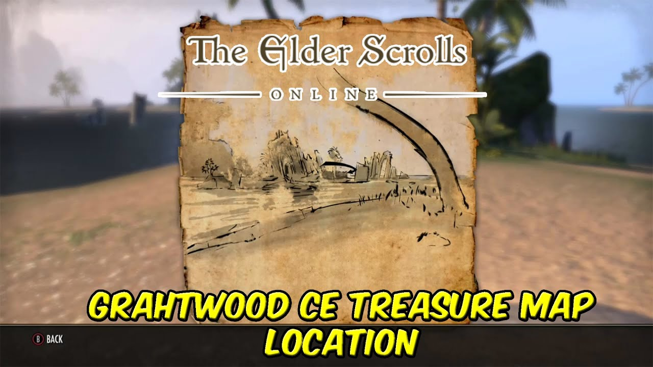 Elder Scrolls Online Grahtwood CE Treasure Map Location