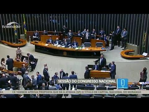 Congresso - Vetos e projeto - TV Senado ao vivo - 20/02/2018