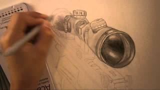 Speed Drawing - MW3 Barrett 50 Cal [HD]