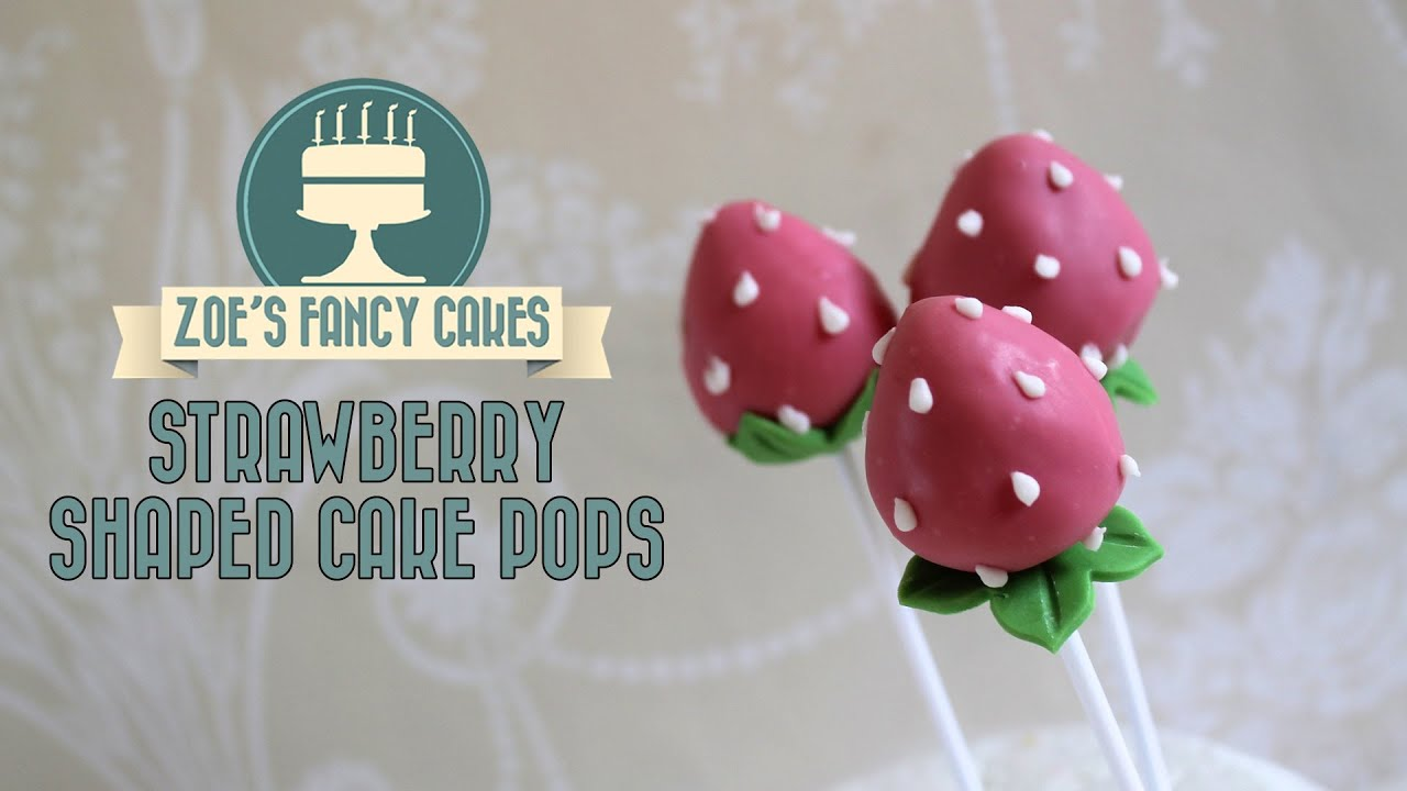 strawberry cake pops How to make strawberry shaped cake pops cake decorating tutorials - YouTube & strawberry cake pops: How to make strawberry shaped cake pops cake ...