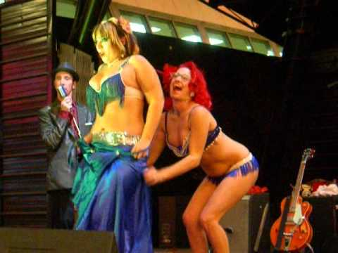 2nd Burlesque dance at Fremont Street Experience in Las Vegas thumbnail