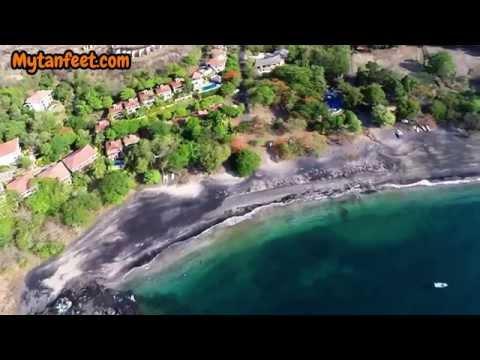 Aerial video of Playa Ocotal, Costa Rica