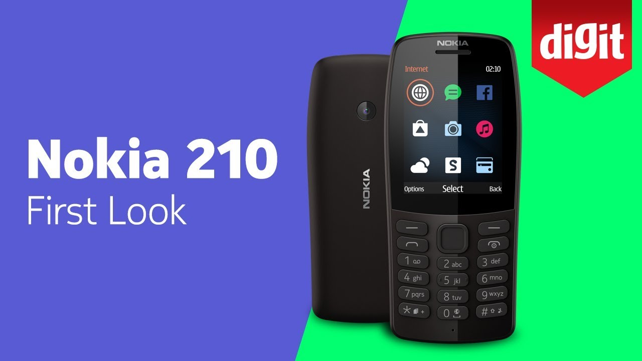 Nokia 210 Feature Phone | First Look | Digit in