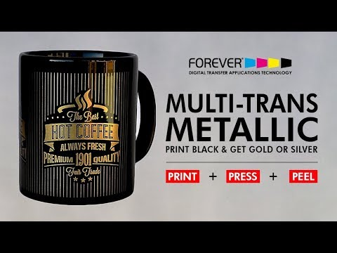 FOREVER Multi Trans Metallic Gold, Silver & Bronze For Hard Surface transfers