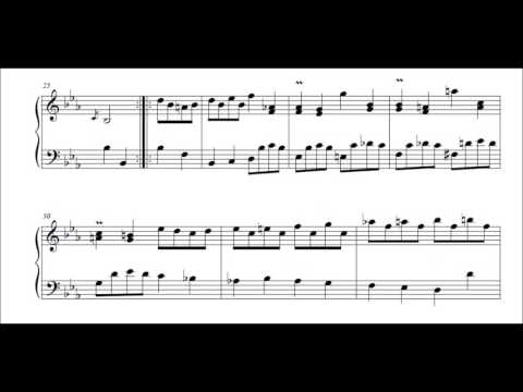 J S Bach French Suite no 4 in E flat BWV 815 Gavottes 1 & 2 Murray Perahia