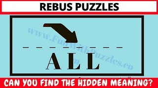 #REBUS #PUZZLES WITH ANSWERS TO TWIST YOUR BRAIN