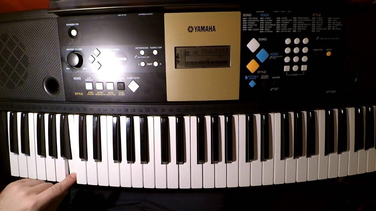 Yamaha ypt 220 review and sample play youtube for Yamaha 221 vs 222