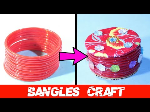 DIY Best Out Of Waste Old Bangles Craft Idea | Cool Craft Idea | Bangles Reuse Idea | Basic Craft