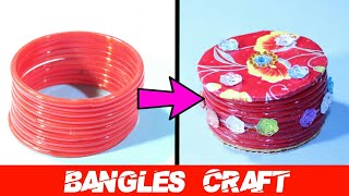 DIY Best Out Of Waste Old Bangles Craft Idea   Cool Craft Idea   Bangles Reuse Idea   Basic Craft