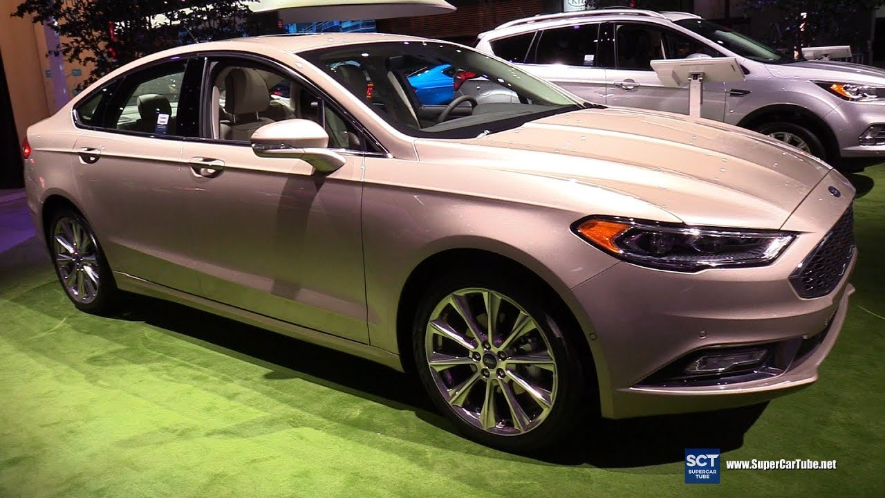 2019 ford fusion platinum exterior and interior walkaround 2018 new york auto show
