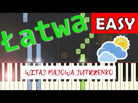 🎹 Witaj, majowa jutrzenko (Trzeci Maj) - Piano Tutorial (łatwa wersja) 🎹