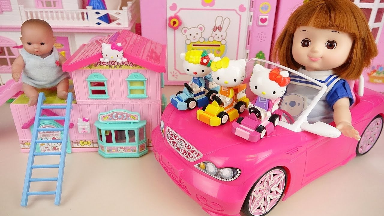 Hello Kitty House And Baby Doll Friends Toys Play Youtube