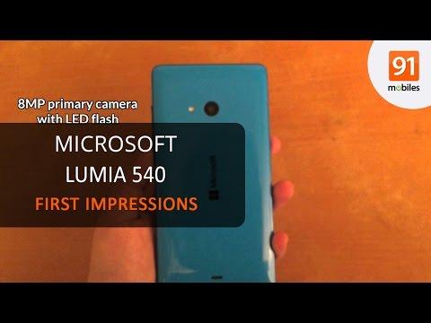 Microsoft Lumia 540 Dual SIM: First Look | Hands On | Price