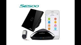 монтаж сенсорных выключателей SESOO и настройка Broadlink