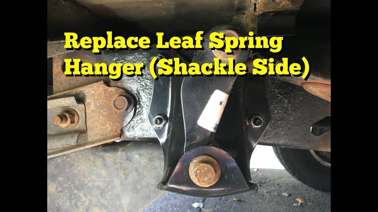 Leaf Spring Hanger Replacement (Shackle Side) F150 - YouTube
