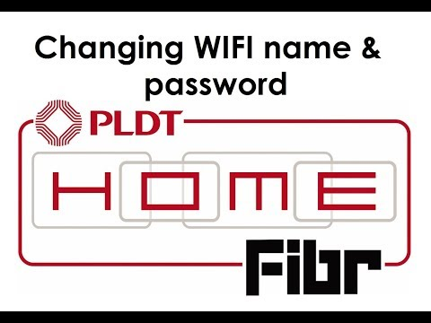 How To Change WIFI Name And Password For PLDT Home Fibr