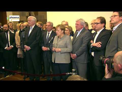 FDP bricht Sondierung ab: Statements Merkel (CDU) und Seehofer (CSU) am 20.11.17