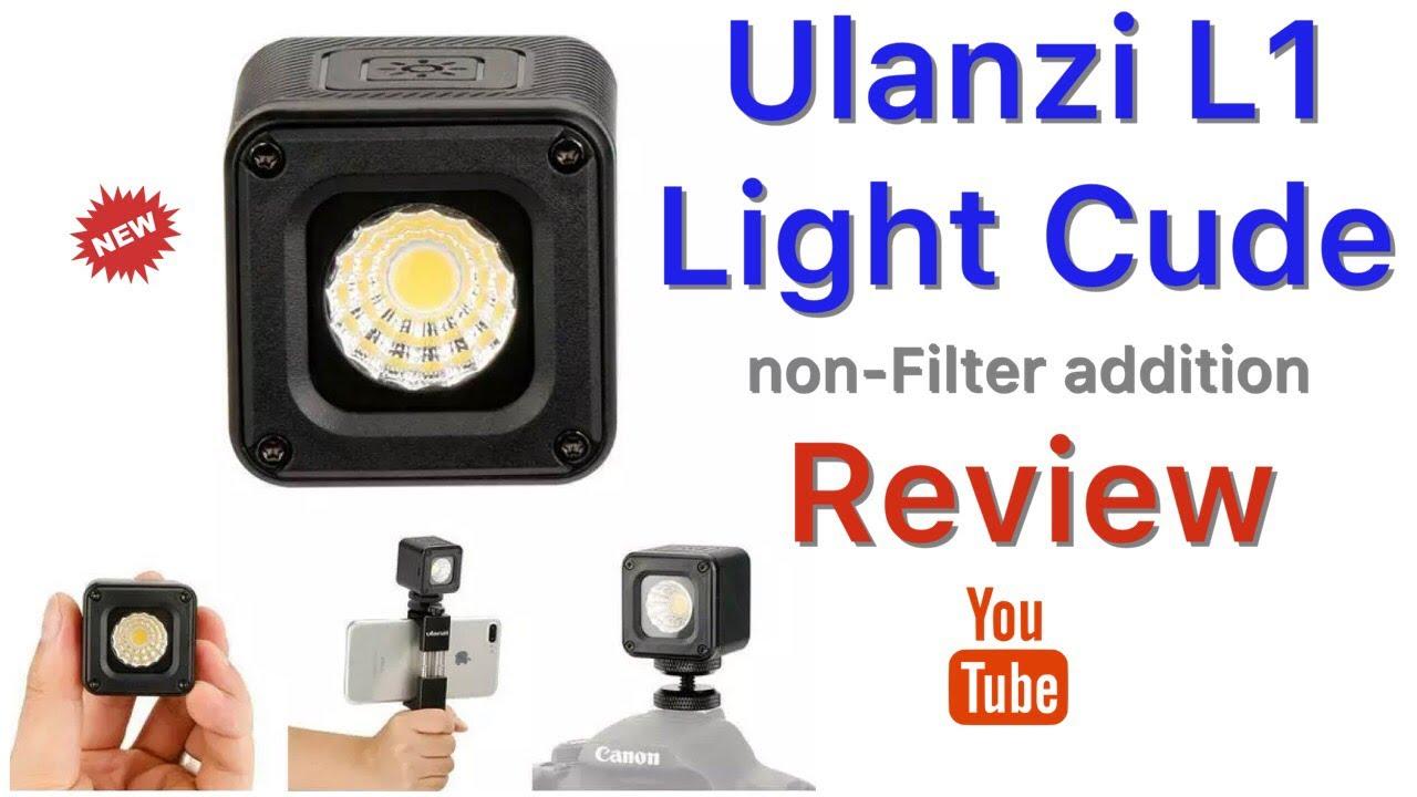 Ulanzi L1 Pro IP67 Waterproof LED Video Light w// 60° Light Angle for DSLR Cam