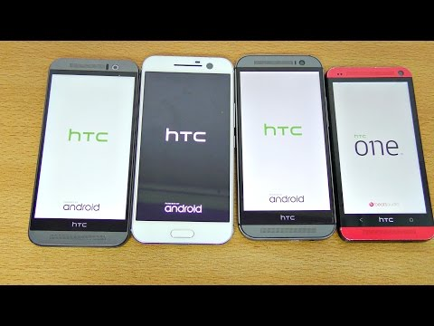 HTC 10 vs M9 vs M8 vs M7 - Speed Test! (4K)