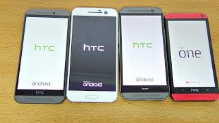 HTC One - HTC 10 vs M9 vs M8 vs M7 - Speed Test! (4K)