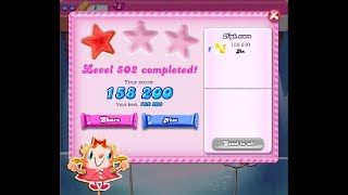 Candy Crush Saga Level 502 ★ NO BOOSTER