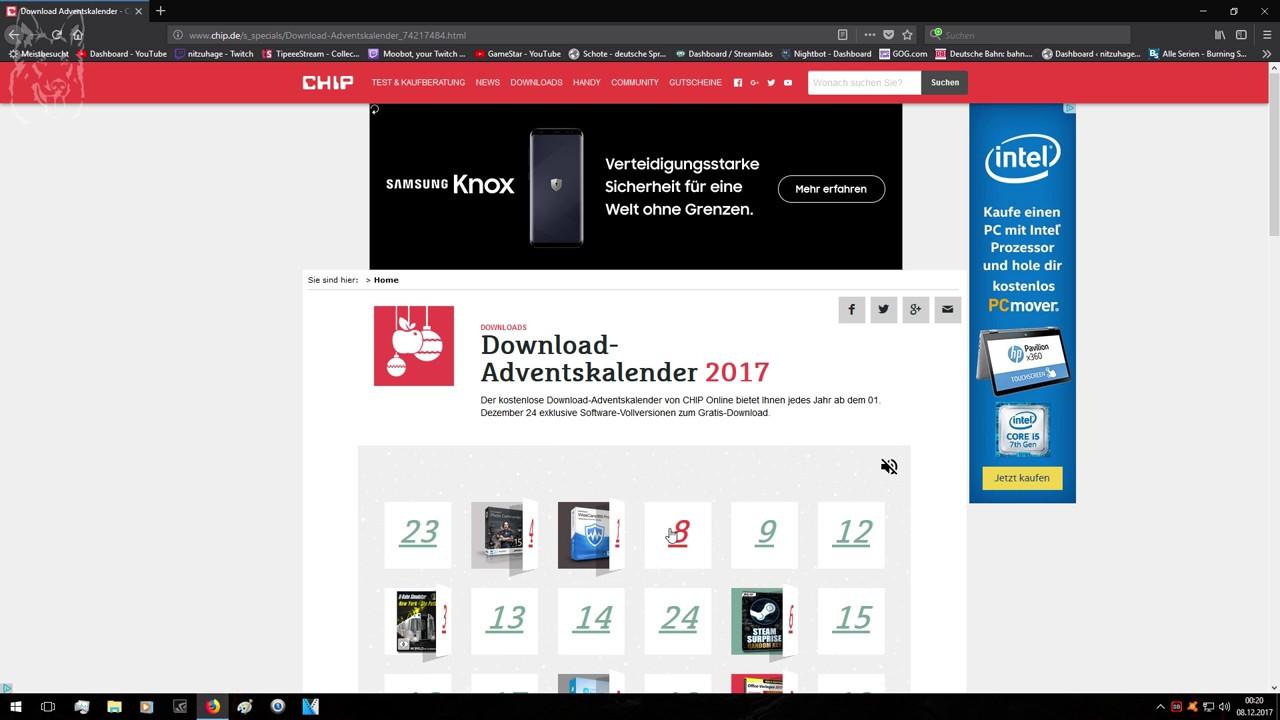 Chip, pc-welt und heise adventskalender 2017: kostenlose.