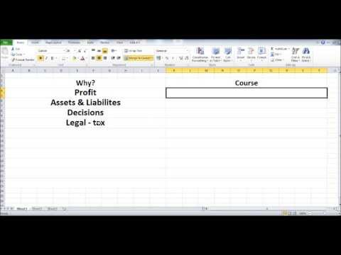 Free Online Bookkeeping Course #1 - Introduction - Why do yo