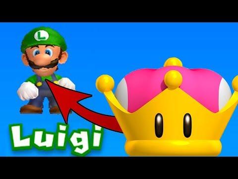 What happens when Luigi uses Peach's Super Crown? - New Super Mario Bros U Deluxe