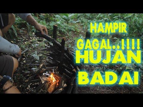 Bushcraft Heavy Rain [making Fire, Roof Tent, Tramontina Brazil Knife]