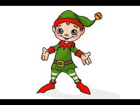 how to draw a christmas elf - How To Draw A Christmas Elf