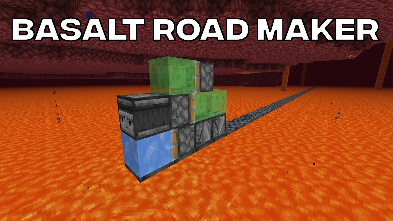 Automatic Basalt Road Maker For Lava Lakes Youtube Hopefully we can make basalt blocks for the rainbow bridge (it's still a secret). automatic basalt road maker for lava lakes
