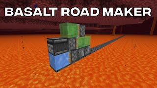 Automatic Basalt Road Maker For Lava Lakes