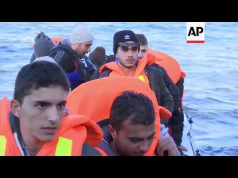 More migrants arrive on Greek island of Lesbos
