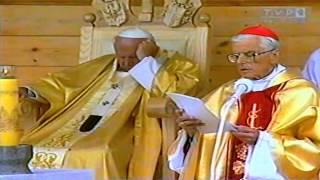 VII Pielgrzymka Papieża Jana Pawła II do Polski - Msza Św. w Starym Sączu 1999