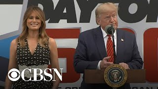 Trump and first lady appear at Daytona 500 in Florida