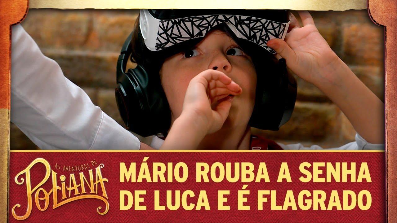 Mário rouba a senha de Luca e é flagrado | As Aventuras de Poliana