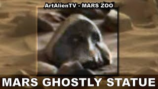 MARS GHOSTLY STATUE: Alien Buddha ? Valley of the Kings. ArtAlienTV - 1080p