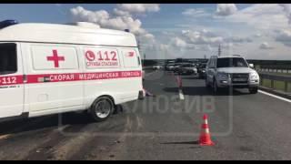 Один человек погиб в аварии с участием фуры на трассе М-4 в Подмосковье