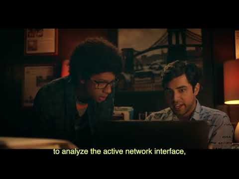 redirected shell script to analyze the active network interface