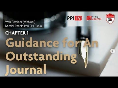 [LIVE] Guidance For An Outstanding Journal