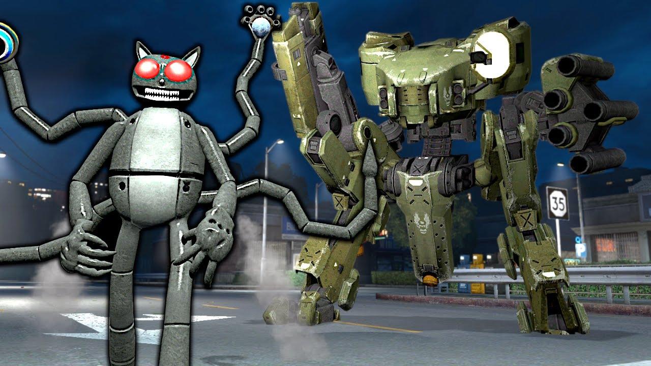 Download Robot Cartoon Cat vs Mech! – Garry's Mod Gameplay
