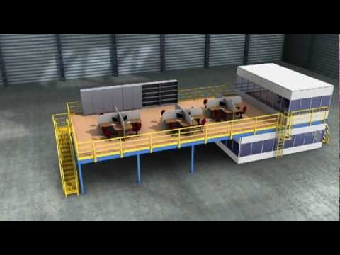 Animated Demonstration of Industrial Mezzanine Setup by Suite Imagery