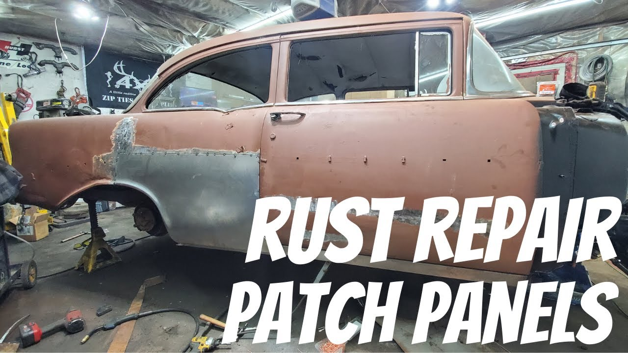 Abandoned $300 56 Chevy Get's Some Rust Repair Repair With Ease!