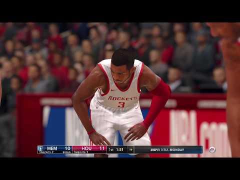 NBA LIVE 18 - Memphis Grizzlies vs Houston Rockets - 1st Half - PS4 PRO 1080p - HD