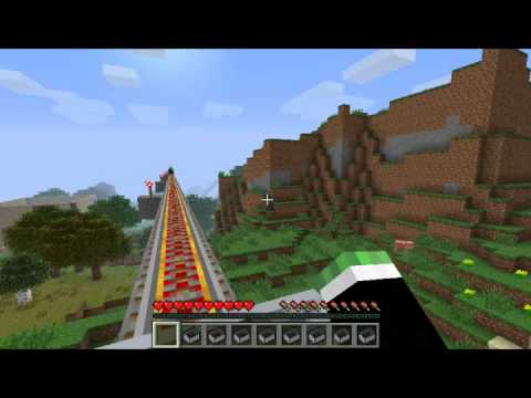 Minecraft Montaña Rusa interminable! [Con Michael y Esteban]