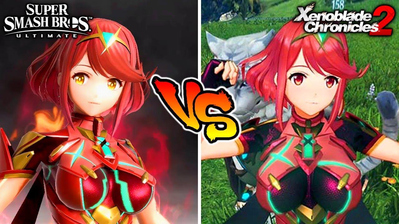 Smash Bros. Ultimate VS Xenoblade (Pyra & Mythra Moveset Comparison & More)