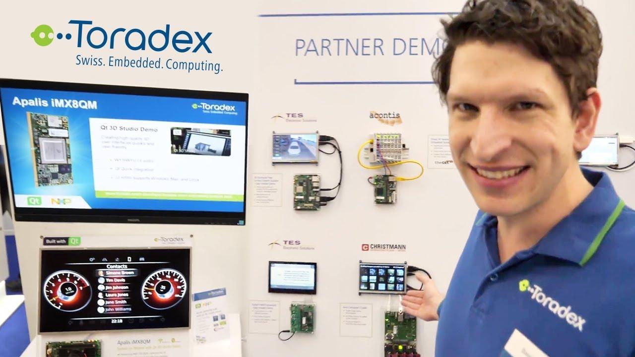 Toradex Apalis iMX8QM, NXP i MX 8QM, and more demos at EW2018